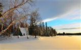 Title:Winter Forest Wood House-Beautiful landscape wallpaper Views:341