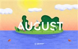 Title:Happiness Happens In August-August 2017 Calendar Wallpaper Views:408