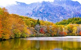 Title:Japan togakushi lake mountains-Scenery HD Wallpaper Views:479